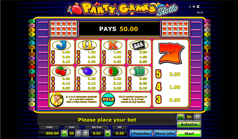 Party Games Slotto Online – Play the Novomatic Slot for Free