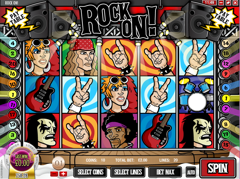 rock on! slot review