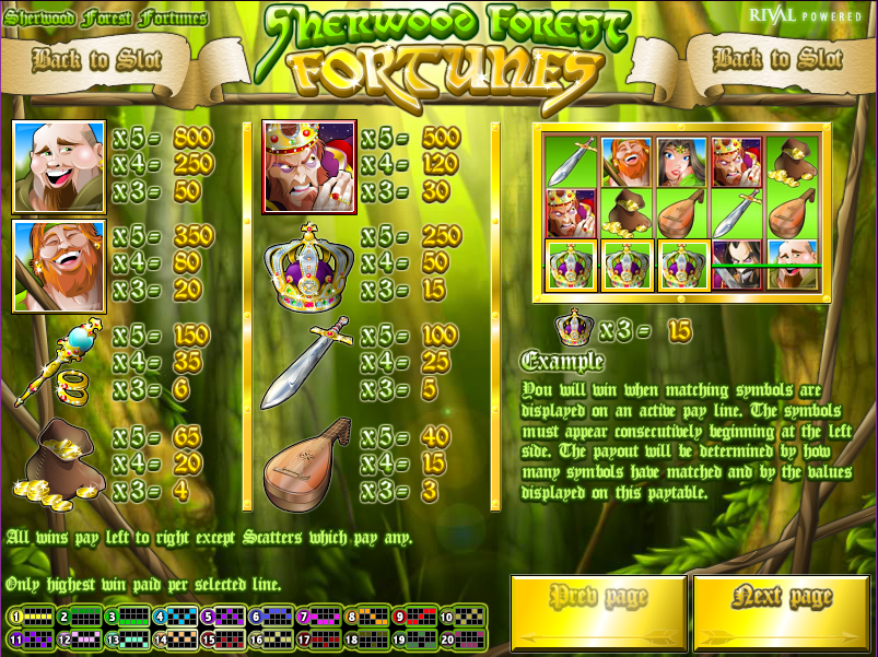 Spiele Sherwood Forest Fortunes - Video Slots Online