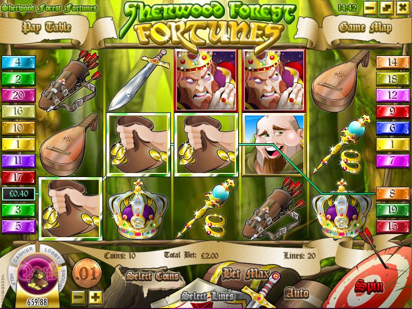 sherwood forest fortunes screenshot