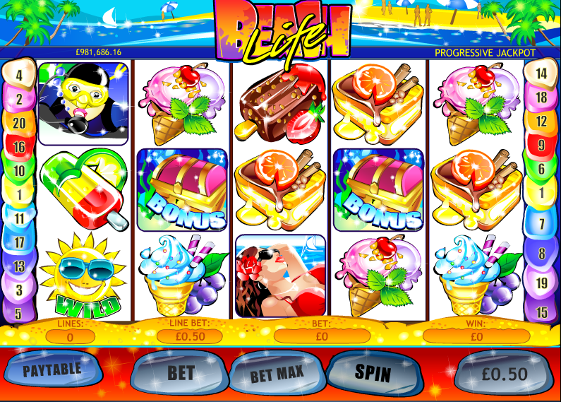 Play Beach Life Online Slots at Casino.com UK