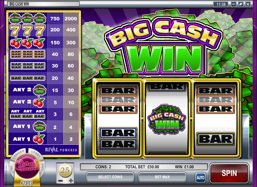 Play slots to win money