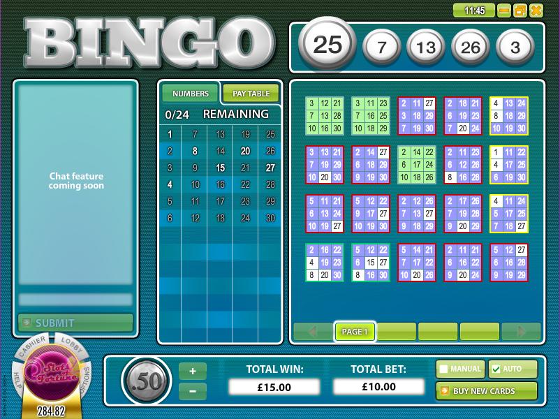 bingo 30-ball slot review