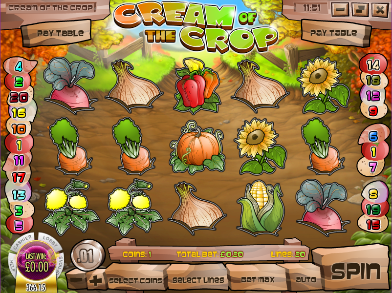cream of the crop slot review