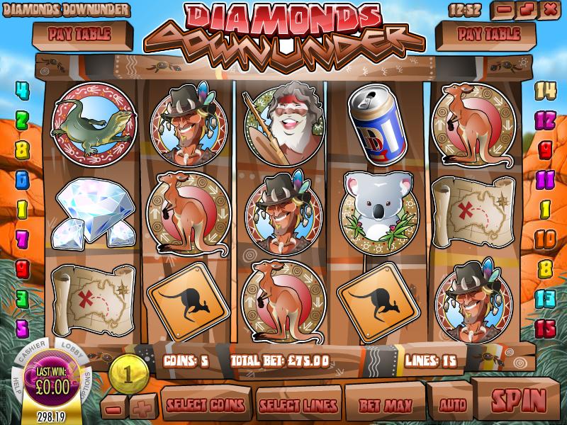 diamonds down under slot review