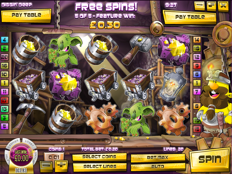 digging deep slot review