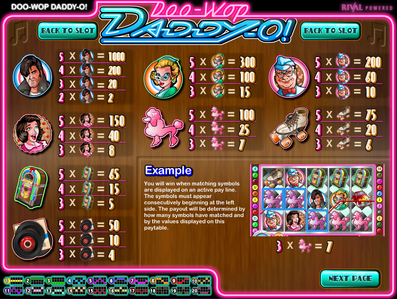 Doo-Wop Daddy-O Slot Machine - Play Now with No Downloads
