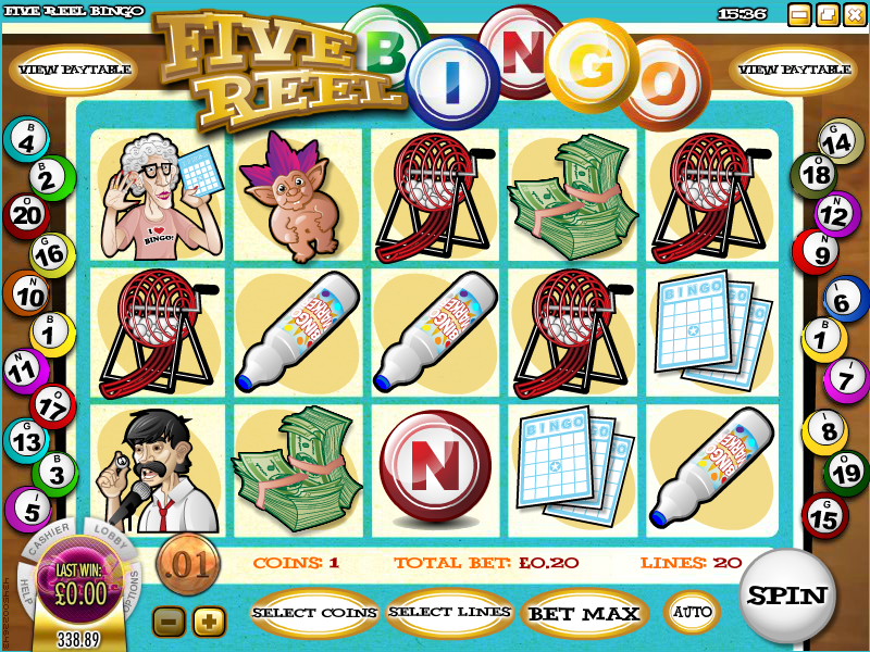five reel bingo slot review