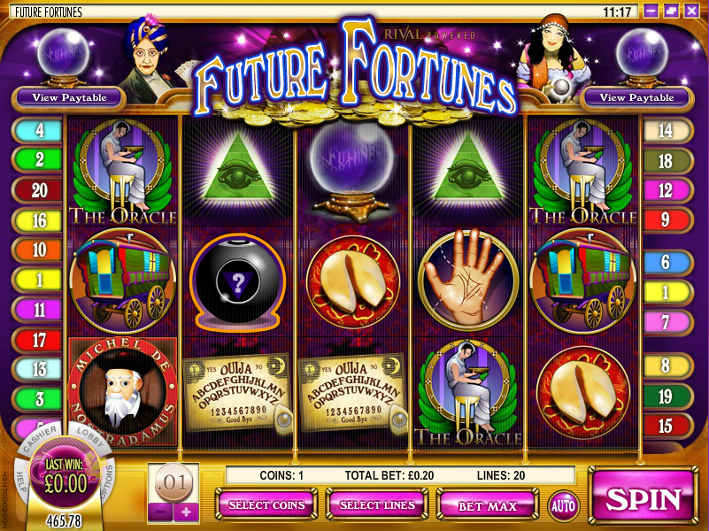Future Fortunes™ Slot Machine Game to Play Free in Rivals Online Casinos