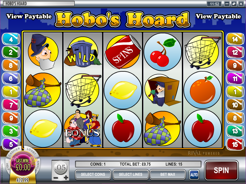 hobos hoard slot review