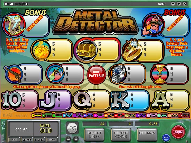 Metal Detector Slots - Play Online & Win Real Money