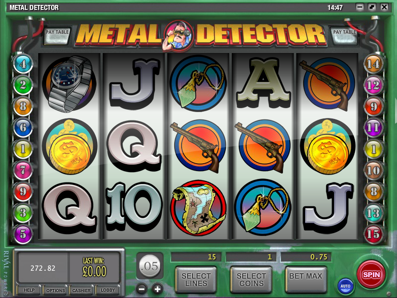 metal detector slot review