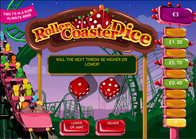 roller coaster dice screenshot