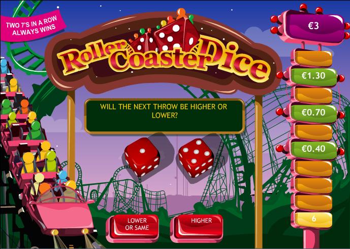 roller coaster dice screenshot