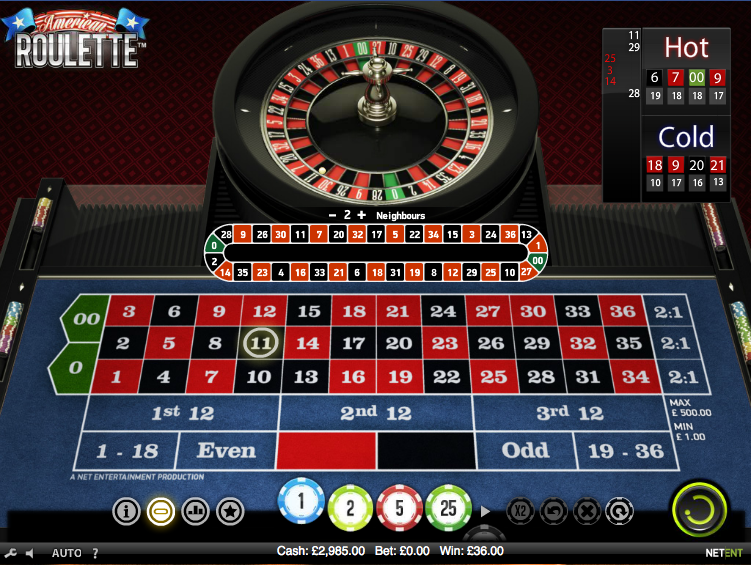 american roulette slot review