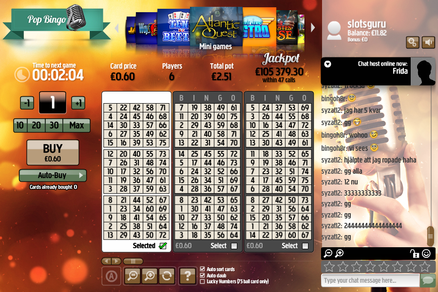 betsson pop bingo review
