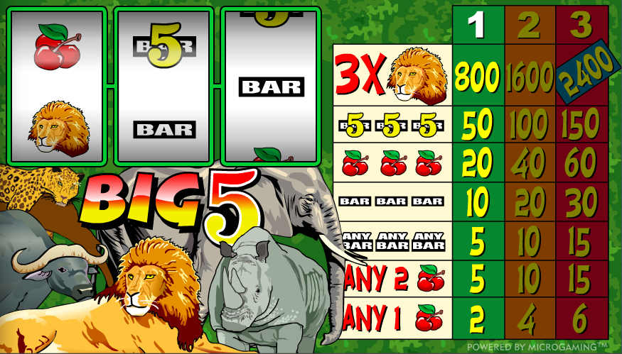 big 5 slot review