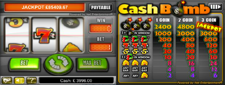cash bomb slot review