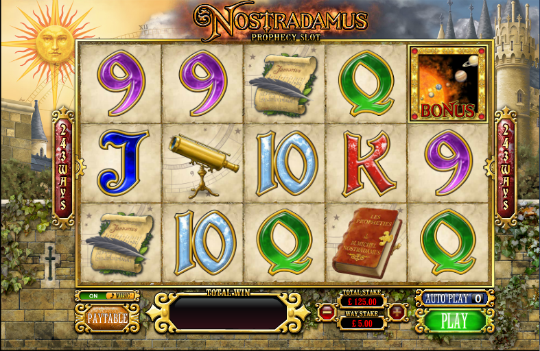 nostradamus prophecy slot review
