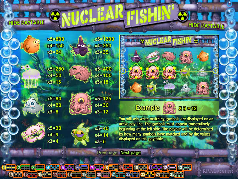 Nuclear Fishin Slot - Free to Play Online Casino Game