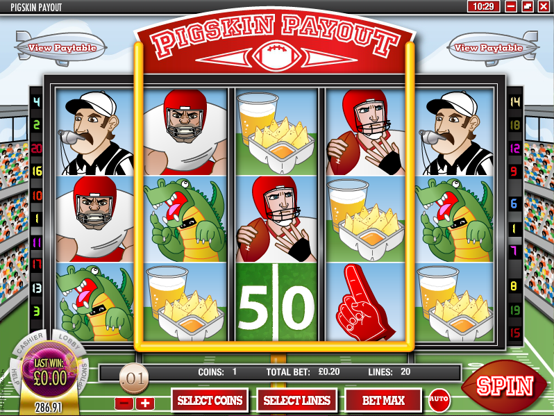 pigskin payout slot review