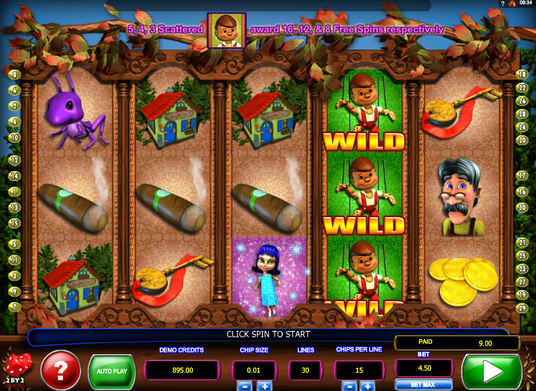 pinocchios fortune slot review