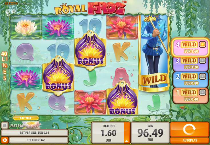 royal frog slot review