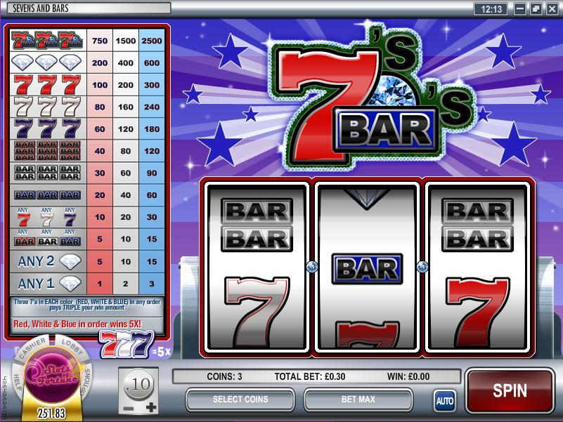 sevens & bars slot review