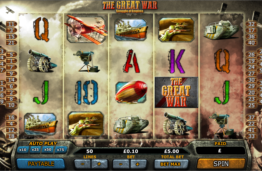 the great war slot review