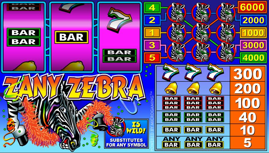 zany zebra screenshot