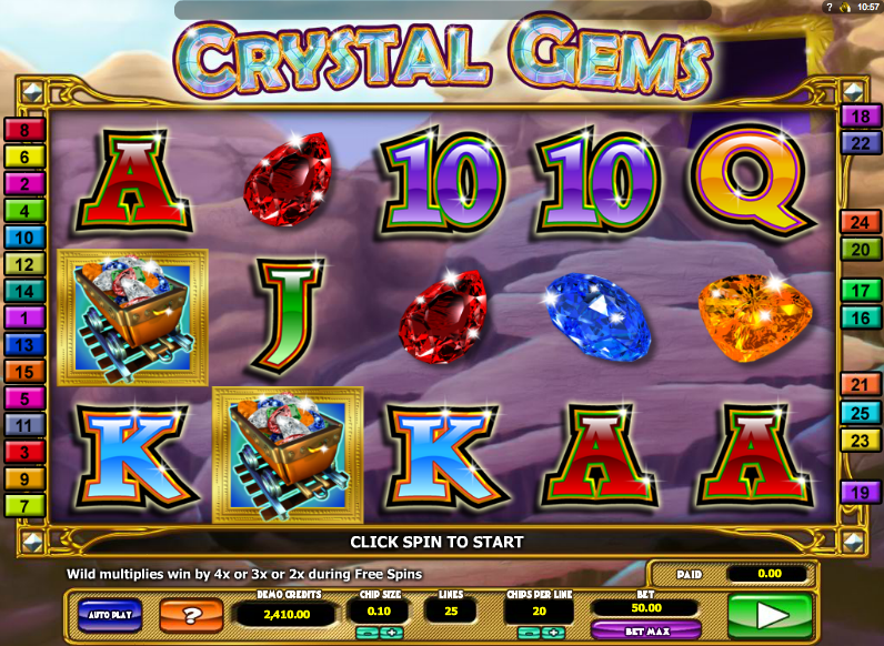 crystal gems slot review