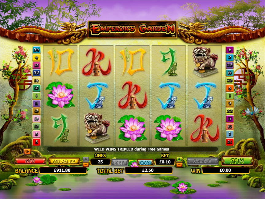 emperors garden slot review