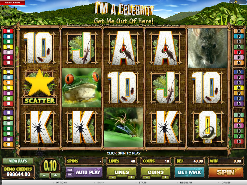 I'm a celebrity get me out of here slot review