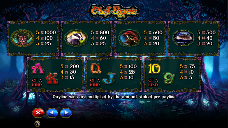 Owl Eyes Video Slot Machine – Play the Online Game for Free