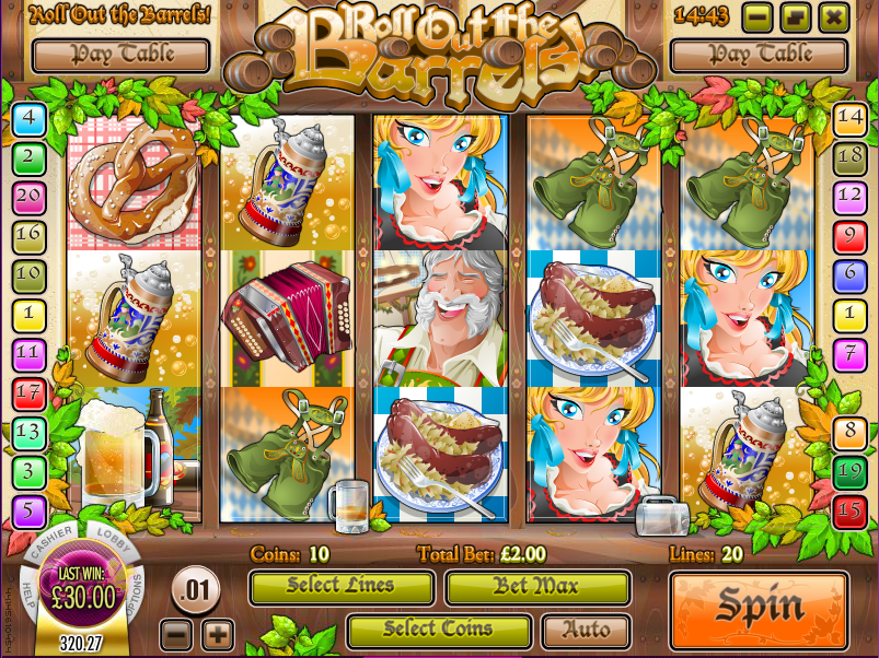 roll out the barrels slot review