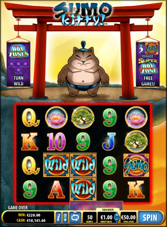 Sumo Kitty Slot Machine - Play Sumo Kitty Slots Free Online