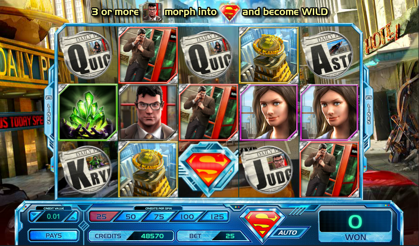 superman krypton slot review