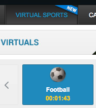 virtual football buttons