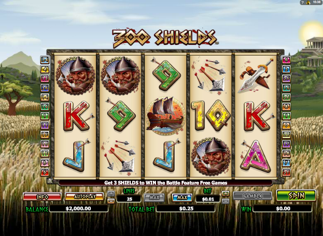 300 Shields Slot Game - Play at Top Online Casinos for Free