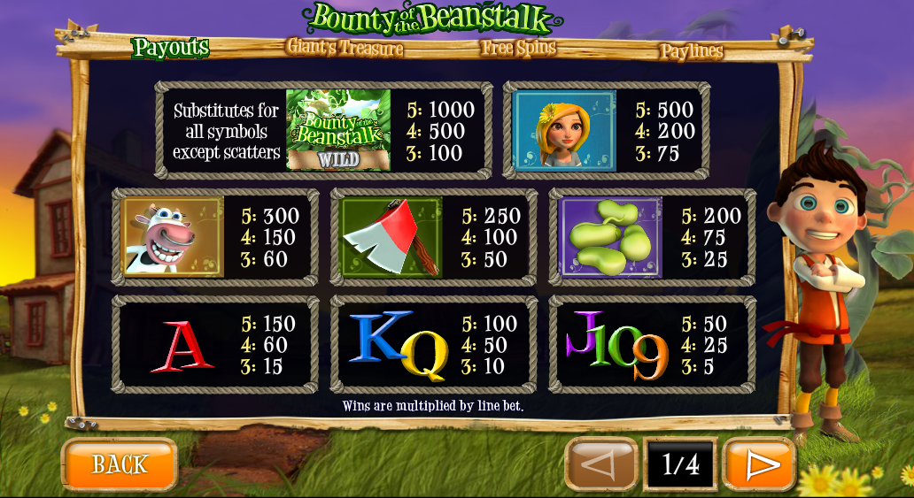 Play Bounty of the Beanstalk Online Slots at Casino.com NZ