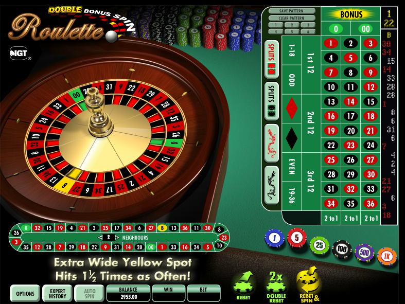 double bonus spin roulette slot