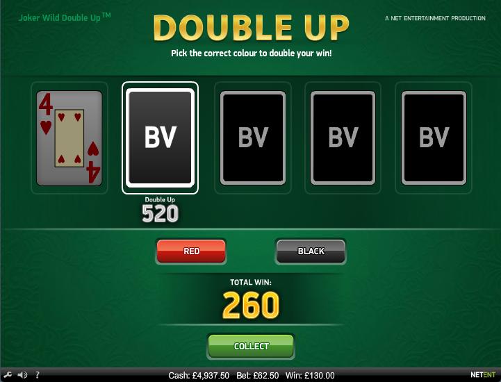 joker wild double up casino