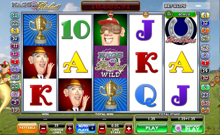 Nags to Riches - Free Horse Racing Slot
