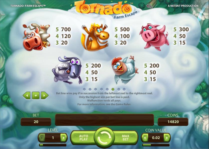 Tornado: Farm Escape NetEnt Online Slot for Real Money-Rizk
