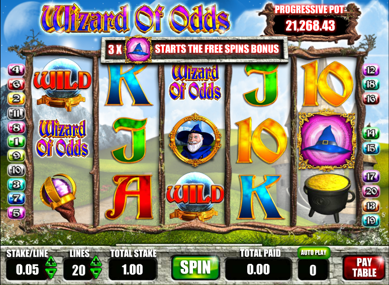 wizard of odds slot