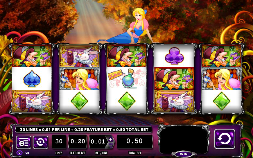 alice tea party slot