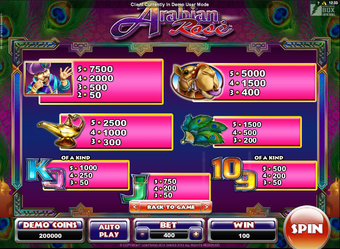 Arabian Rose Slot - Play Free Casino Slot Machine Games