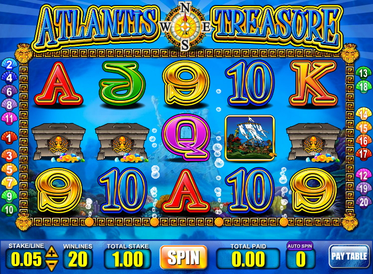 atlantis treasure slot