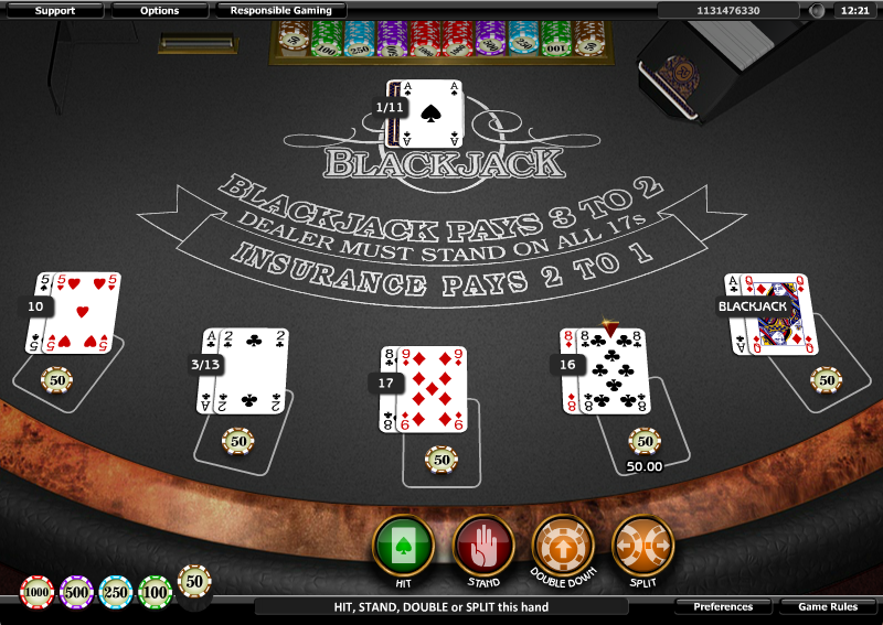 blackjack five hand slot