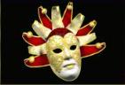 festival queens white mask